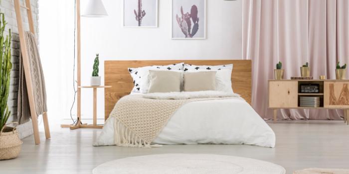 materac sprężynowy czy piankowy - przykładowa sypialnia